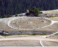 roue de médecine en pierre
