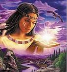 femme chamane retrouvant la lumière au fond du soi