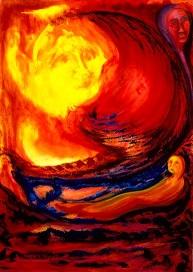 descente de l`être de lumière lors de l`incarnation